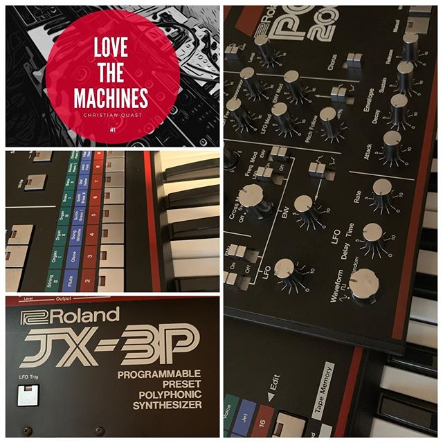 Christian Quast - Love the Machine, Vol. 1  Pre-order here: http://smarturl.it/mcb5cy  The Roland JX-3P has been one of my first synths and it was a instant love. Combined with the PG-200, the internal sequencer and outboard FX means endless hours of fun. In the middle of the 90ties we had 7 or 8 of them. Few of them modified. Today i have still have three + the PG-200. Most underrated synth of Roland.